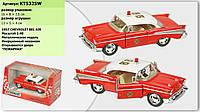 "Машина метал. ""Kinsmart"" ""Chevrolet Corvette Fire Chiff 1957"", 1:40, в кор. 16*8,5*7,5см (96шт)(KT5325W)"