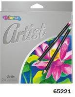 "Карандаши ""Artist"" цветные, 24 цвета, ТМ Colorino(65221)"