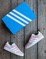 Женские кроссовки Adidas Gazelle 🔥  (Адидас Газели) бежевый