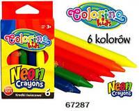 "Мел ""Neon"", 6 цветов, ТМ Colorino(67287)"
