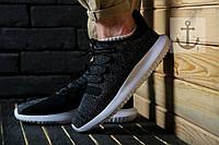 Мужские кроссовки Adidas Tubular Dual Core 🔥 (Адидас Тубулар Дуал Кор) черные с белым