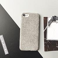 Чехол Тканевый силиконовый для IPhone 7+