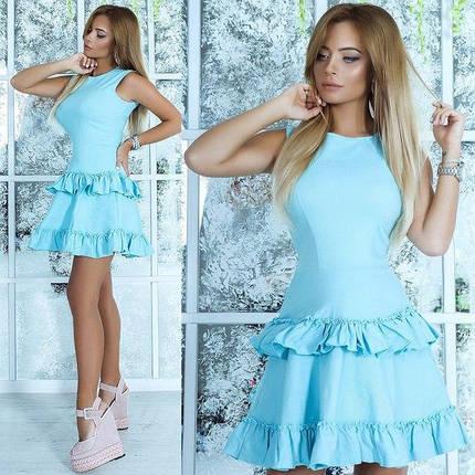 """Расклешенной летнее мини-платье """"Cora"""" с оборками (3 цвета), фото 2"""