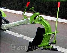 Мототрактор BIZON SH-12(E), на маленьком ходу с мотоблочной фрезой, фото 3