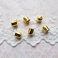 Концевик золото, 10*11 мм