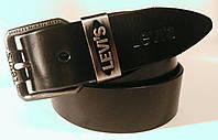 Ремень мужской кожаный(джинс) LEVI`S.пряжка класическая
