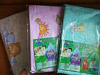 Простынь на резинке в детскую кроватку 120*60 бязь