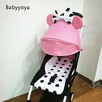 Детская коляска YOYA 175 Mini Mouse Pink, легкая, складная, компактная коляска baby yoya (Йойа) мини розовая