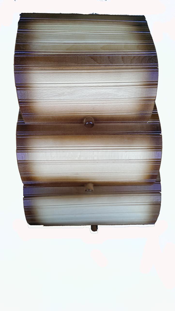 Хлебница деревянная тройная (3в1)