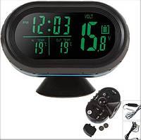 Автомобільний годинник, термометр, вольтметр VST-7009