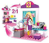 Конструктор Мега Блокс Барби 2в1 кондитер-ветеринар  Mega Bloks Barbie Pet Vet to Sweet Baker, фото 1