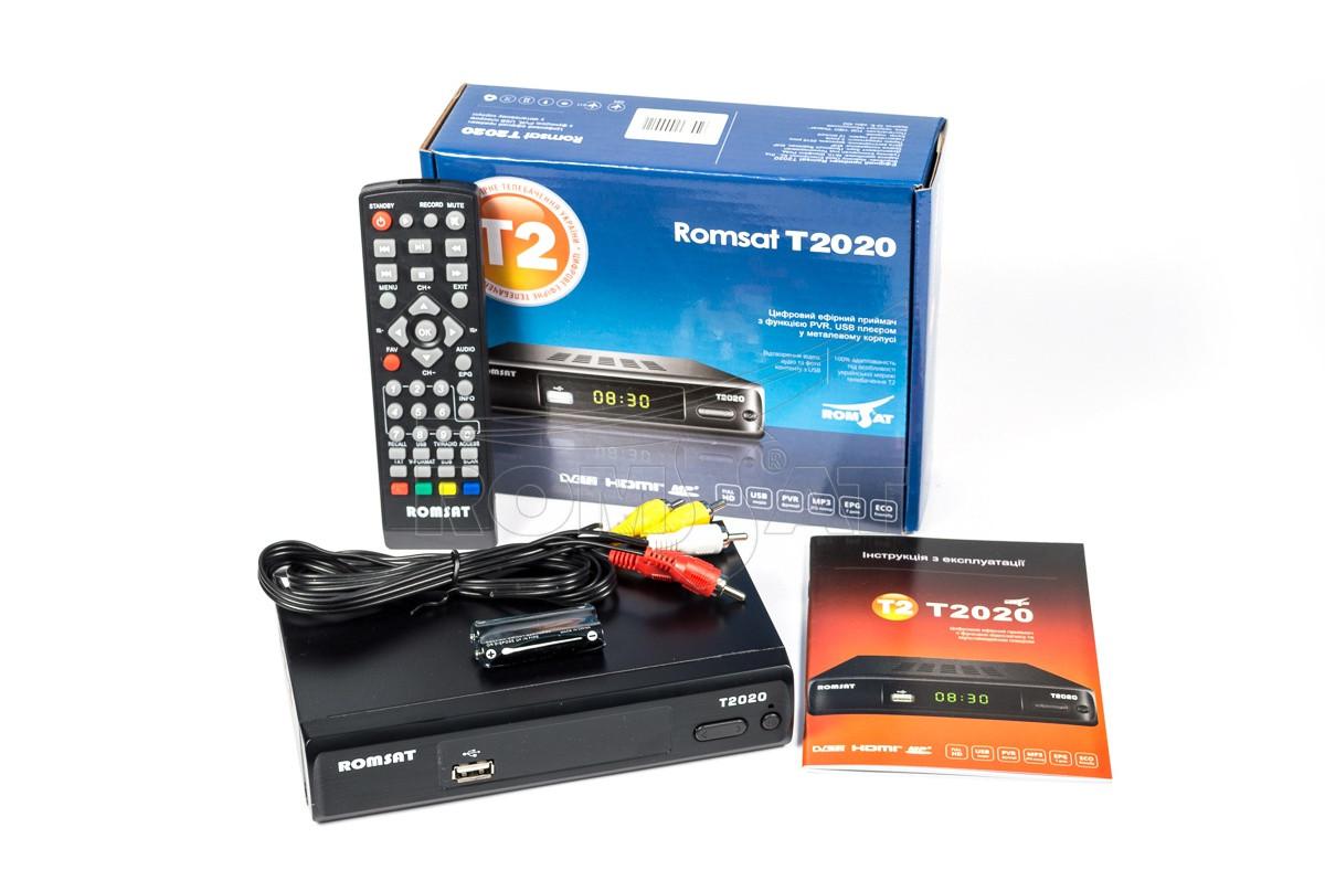 Цифровой эфирный приемник Romsat T2020 DVB-T2