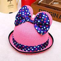 Шляпа Minnie с ушками и бантиком для девочки. 52 см