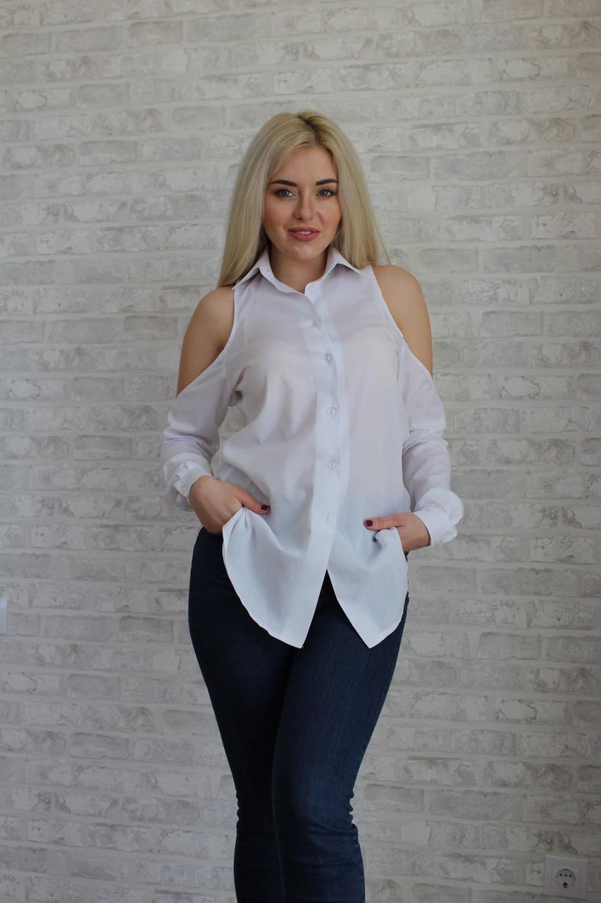 """Оригинальная женская блуза-рубашка """"Gucci"""" с вырезами на плечах (2 цвета)"""
