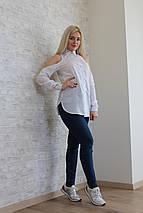 """Оригинальная женская блуза-рубашка """"Gucci"""" с вырезами на плечах (2 цвета), фото 2"""