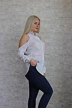 """Оригинальная женская блуза-рубашка """"Gucci"""" с вырезами на плечах (2 цвета), фото 3"""
