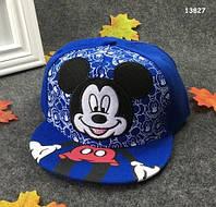 Кепка Mickey Mouse с прямым козырьком для мальчика. 50-54 см, фото 1