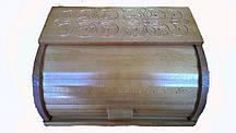 Хлебница деревянная с резьбой 37*27*17