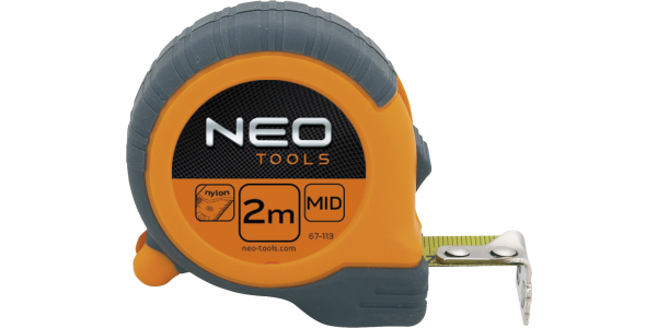 Рулетка, стальная лента 2 м x 16 мм,  магнит,   NEO  67-111, 67-112, 67-113, 67-115, фото 2
