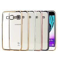 Чехол силиконовый прозрачный на Samsung J320 Galaxy J3 2016