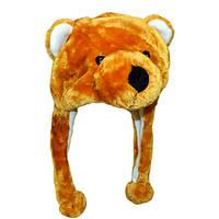 Шапка з вушками Бурий ведмідь