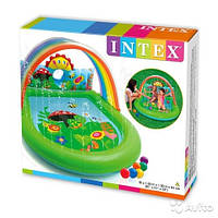 Игровой центр Intex 57421 Радуга с фонтаном 224 х 150 х 99 см