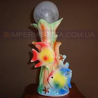 Светильник настольный декоративный ночник IMPERIA одноламповый рыбки LUX-363455