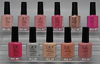 Гель-лак YRE SCL 10 ml, цветное покрытие №1-12, ногти гель лаком
