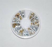 Металический декор для ногтей в карусельке, декор YRE DM-SZ, все для дизайна ногтей Харьков