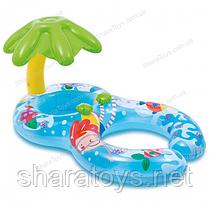 """Детский надувной плотик""""Пальмочка""""  с навесом"""