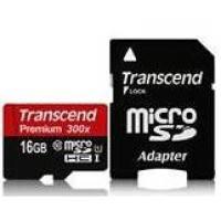 Карта памяти TRANSCEND microSDHC 16GB Class 10 UHS-I Premium с адаптером