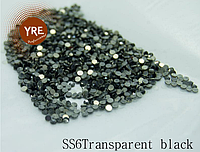 Камни Сваровски (SS6Transparent black) 1440шт KMSS-06 YRE