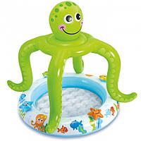 Надувной детский бассейн с навесом «Осьминог» Intex 57115 (61х22 см) HN