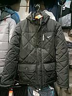 Мужская зимняя куртка Nike стеганая из плащевки, куртка Найк