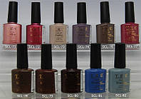 Гель-лак YRE SCL 10 ml, цветное покрытие №71-82, гель лак в домашних условиях