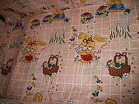 """Белье постельное детское (простынь, наволочка, пододеяльник) """" Зайка """" персик"""