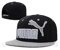 Кепка с прямым козырьком Puma black-grey