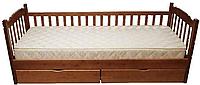 """Деревянная кровать с одним забором """"Юниор"""""""