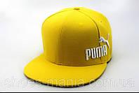 Кепка с прямым козырьком Puma yellow