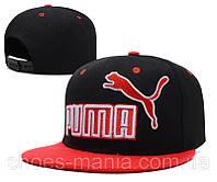 Кепка с прямым козырьком Puma black-red