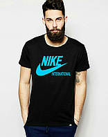 Модная спортивная футболка найк черная ,Nike
