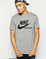 Серая спортивная футболка найк,Nike