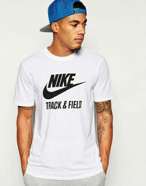 Мужская стильная футболка c принтом найк белая,Nike