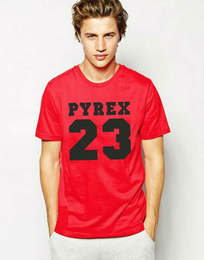 Модная футболка красная с принтом Pyrex 23