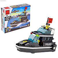 Конструктор Полицейский катер 95 деталей Brick 130 SR