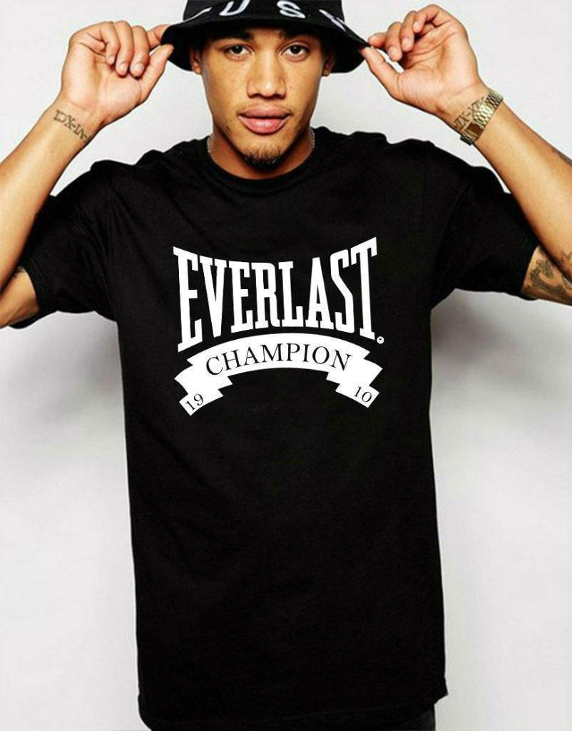 Модная футболка с принтом эверласт,everlast