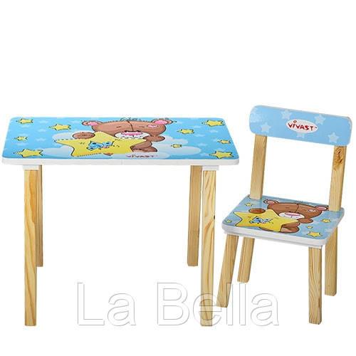 Детский стол со стульчиками  Мишка