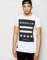 Модная футболка с принтом BROOKLYN