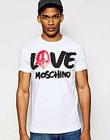 Мужская спортивная футболка  белая с принтом