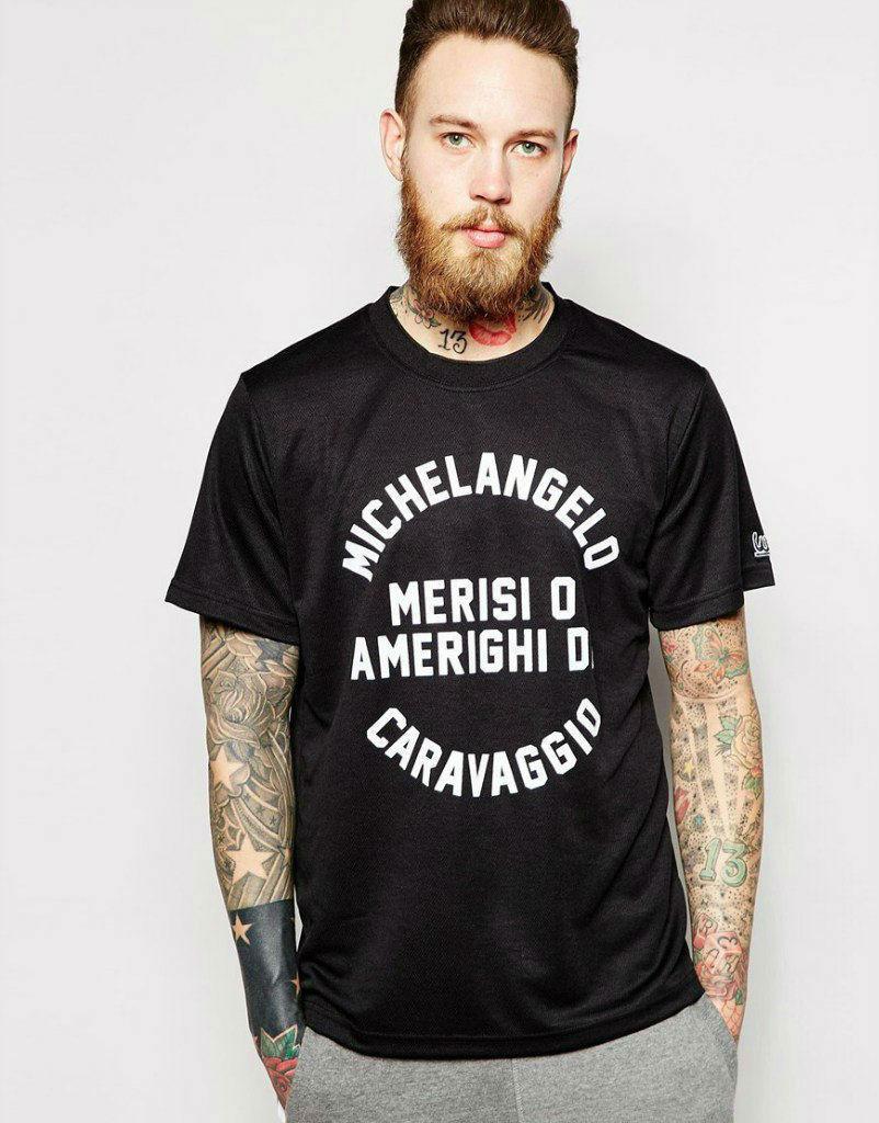 Мужская футболка черная с принтом
